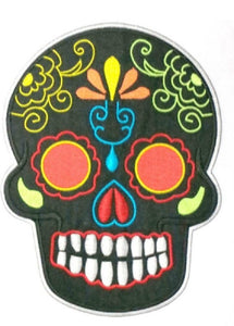 "Day Of the Dead Sugar Skull Rockabilly Big XL Back Patch 9""/23cm - A Patch E Store"