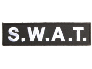 "S.W.A.T. SWAT Military Police Iron On Embroidered Patch 4.6""/11.8cm - A Patch E Store"