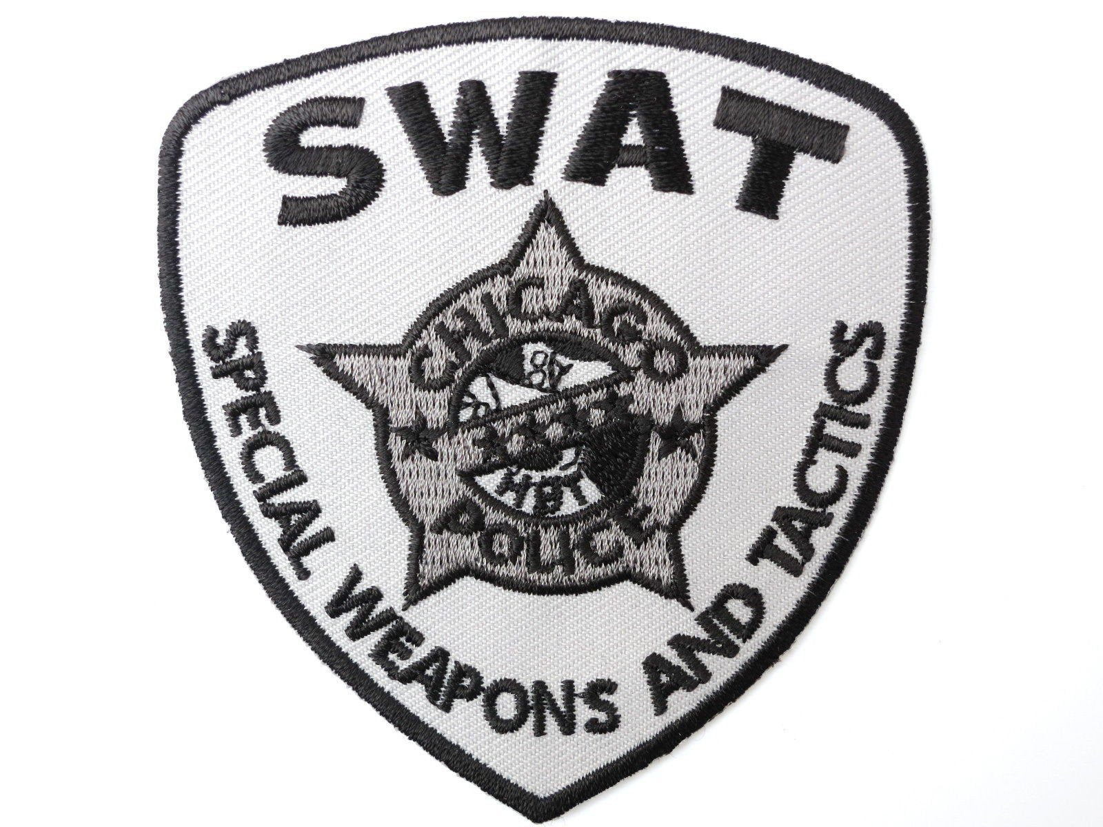"SWAT CHICAGO POLICE Shield Iron On Embroidered Patch 3.2""/8cm - A Patch E Store"