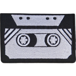 "Retro Cassette Music Mix Tape Iron On Embroidered Patch 3"" - A Patch E Store"