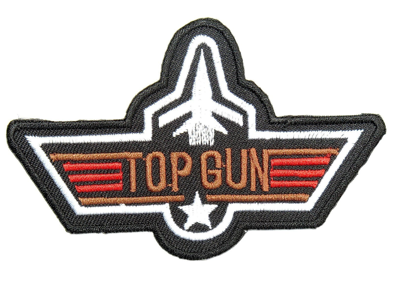 "TOP GUN Navy Fighter Pilot  Iron On Embroidered Patch 4""/10cm - A Patch E Store"