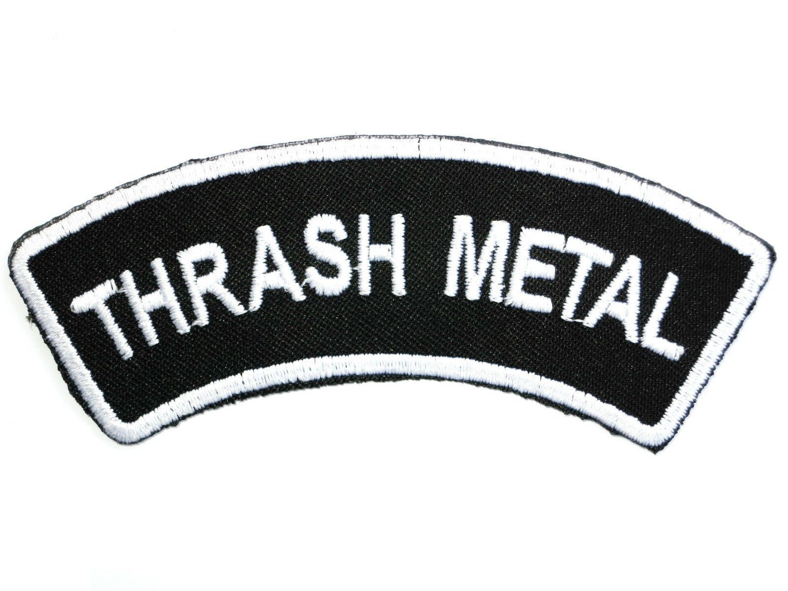 "THRASH METAL Logo Iron On Sew On Embroidered Patch 4.2""/10.5cm - A Patch E Store"