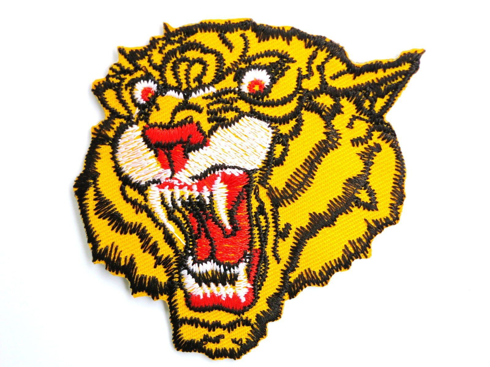 "TIGER Roar Biker MMA Army Embroidered Iron On Patch 2.7""/7cm - A Patch E Store"
