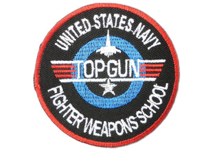 TOP GUN Fighter Pilot School Iron On Embroidered Patch 2.9/7.4cm - A Patch E Store