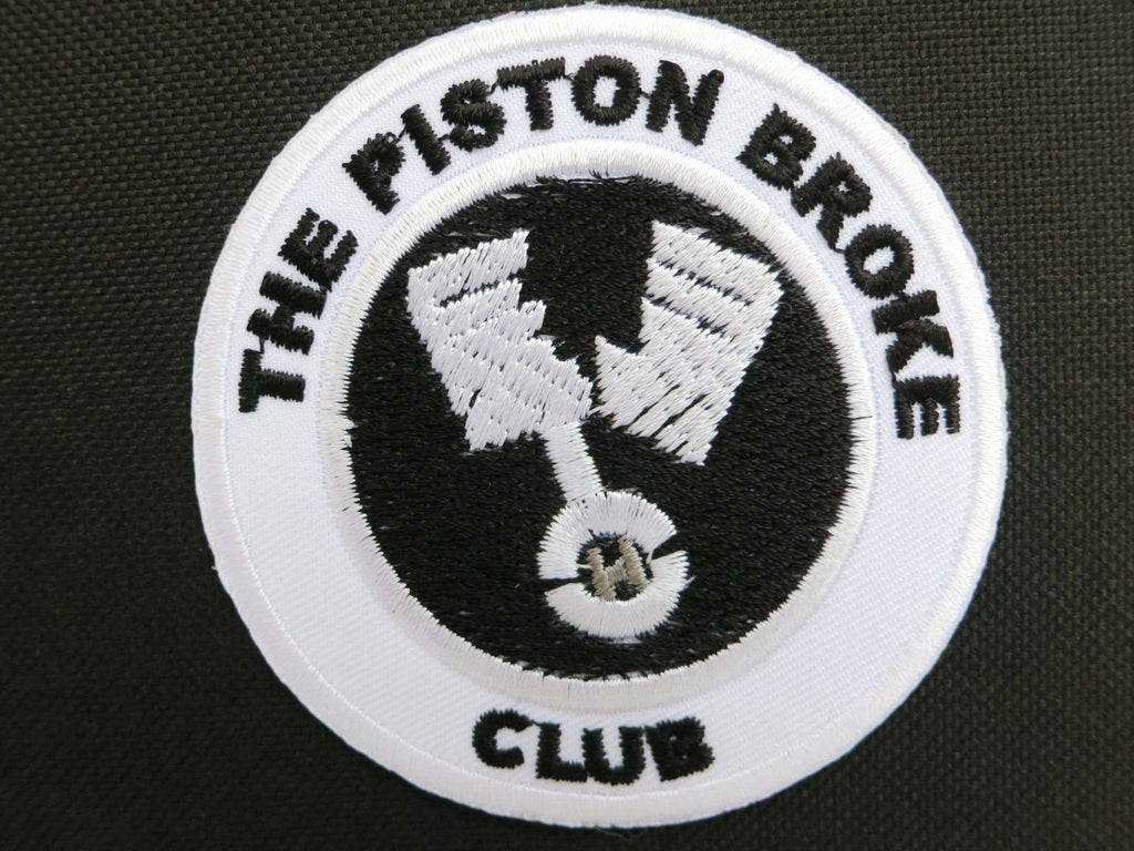 "THE PISTON BROKE CLUB Biker Cafe Racer Iron On Patch 2.9""/7.5cm - A Patch E Store"