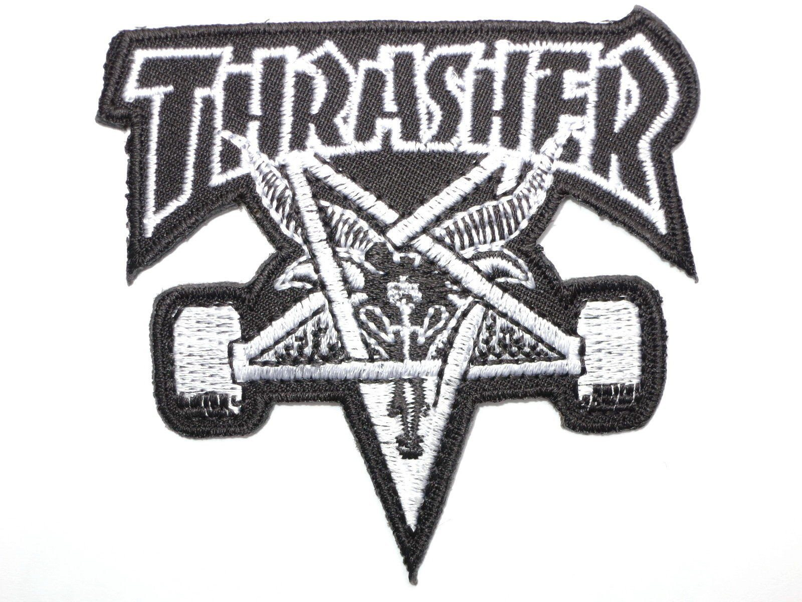 "THRASHER Skate Goat Iron On Embroidered Patch 3""/7.8cm - A Patch E Store"