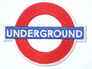 "UNDERGROUND Dance Music London Railway Iron On Patch 3""/7.5cm - A Patch E Store"