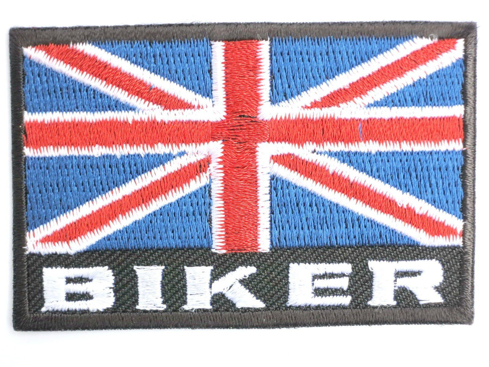 "UK Union Jack Flag Proud British Biker Iron On Patch 2.8""/7cm - A Patch E Store"