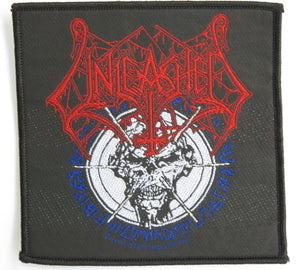 UNLEASHED Skull Death Metal Sew On Woven Patch - A Patch E Store