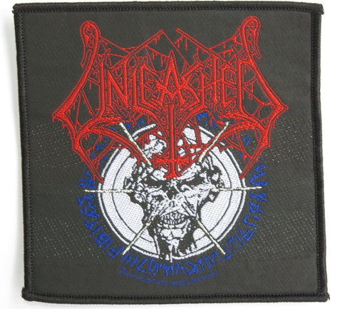 UNLEASHED Vintage Death Metal Sew On Woven Patch