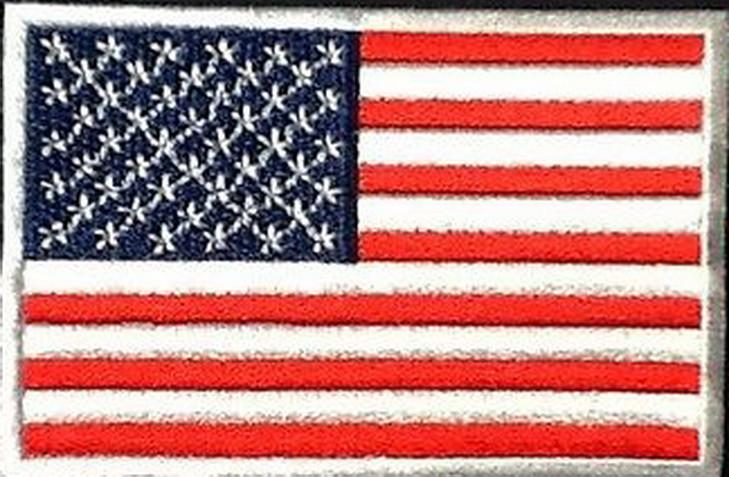 America USA American Flag Embroidered Iron On Patch - A Patch E Store