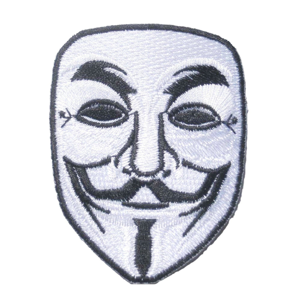 "Anonymous V For Vendetta Mask Anarchy Iron On Patch 3.2""/8cm - A Patch E Store"