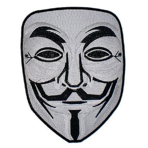 "Anonymous V Vendetta Guy Fawkes Anarchy Mask Big Back Patch 9.8""/25cm"