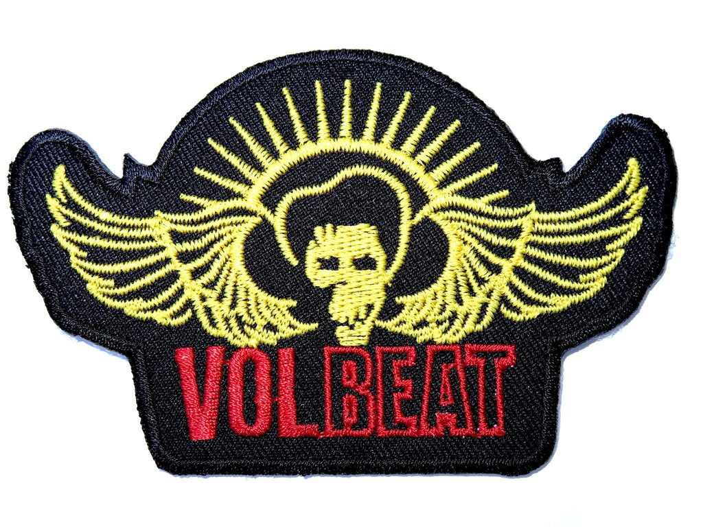 "VOLBEAT Logo Iron On Sew On Embroidered Patch 3.9""/10cm - A Patch E Store"