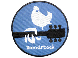 "WOODSTOCK Hippy Peace Love Dove Iron On Patch 2.7""/7.2cm - A Patch E Store"
