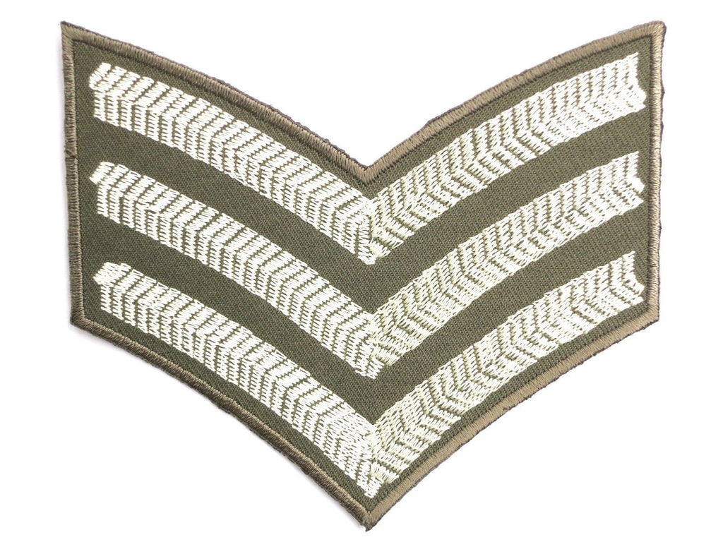 "WW2 Sgt Stripes British Army Military Iron Patch 4""/10cm - A Patch E Store"