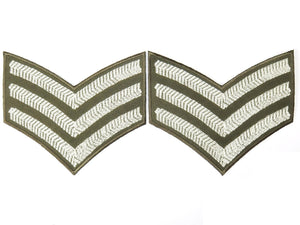 "2x Sgt Stripes WW2 British Army Embroidered Patch 4.2""/10.8cm - A Patch E Store"