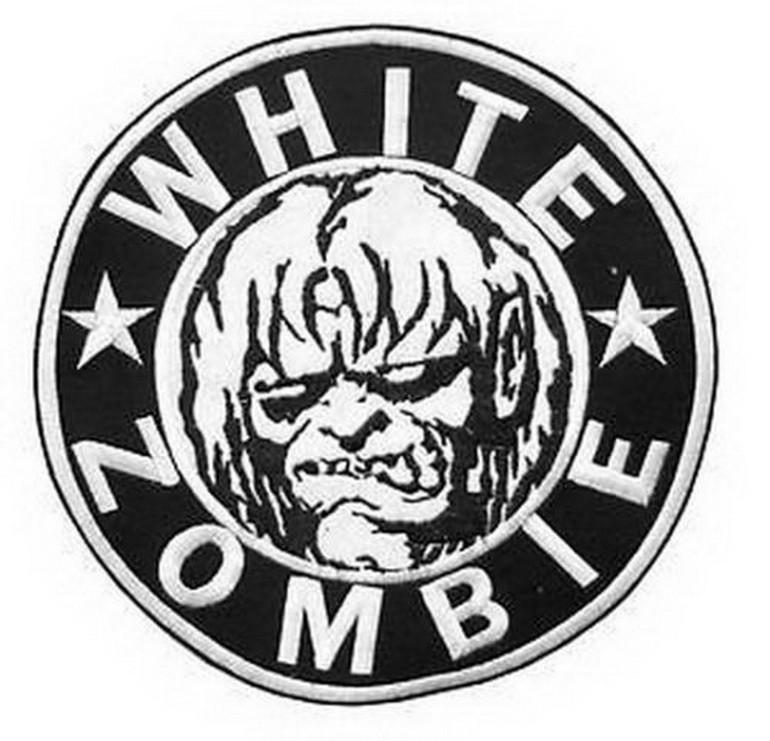 "WHITE ZOMBIE Heavy Metal Big XL Embroidered Back Patch 7.9""/20cm - A Patch E Store"