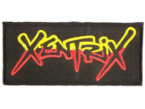 "XENTRIX Iron On Sew On Thrash Metal Embroidered Patch 4""/10cm - A Patch E Store"