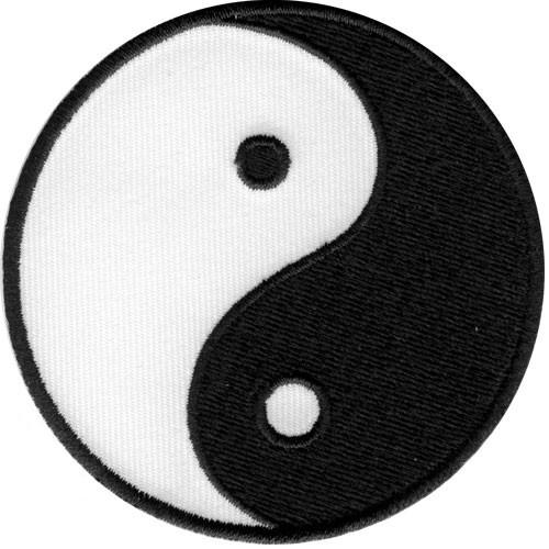 "Yin Yang MMA Tai Chi Yoga Iron On Embroidered Patch 2.8""/7.2cm - A Patch E Store"