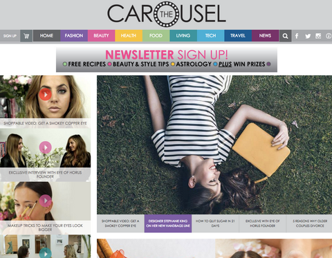 Anna King featured on the Carousel