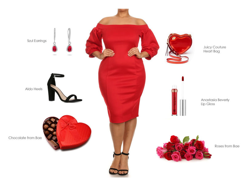 Lady In Red Valentines Day Essentials