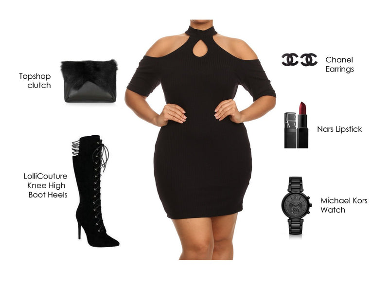 Chic Little Black dress with Essentials