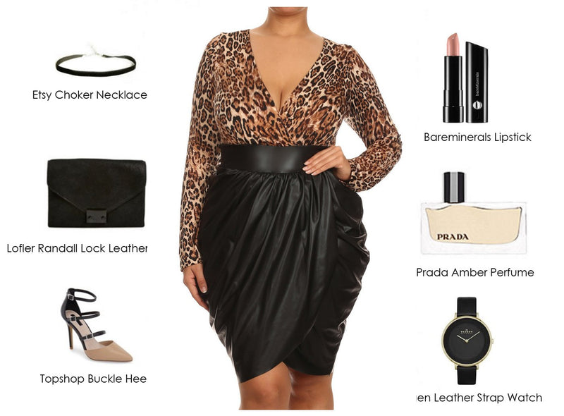 Leopard Bubble Dress with Prada Amber
