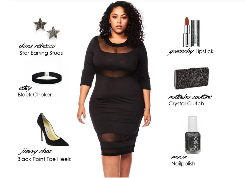 Stay Sleek in our See Through Mesh Bodycon Black Dress