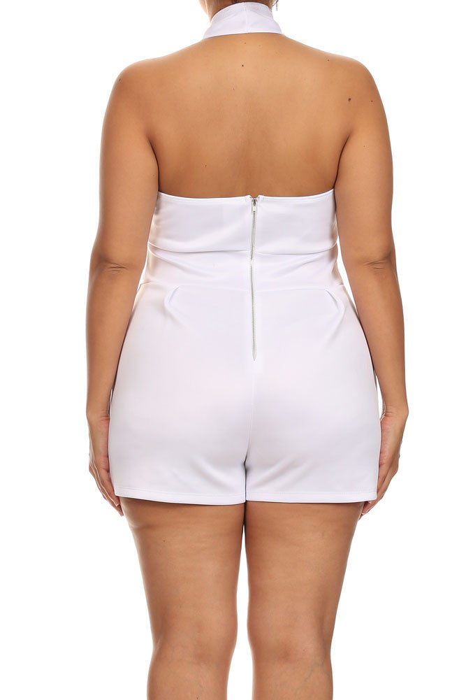 Plus Size Beach House White Romper