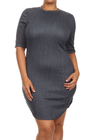 Plus Size Sunny California Days Denim Dress