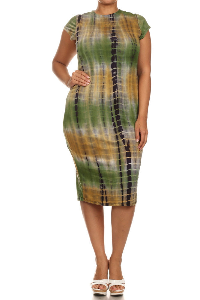Rad Tie Dye Green Dress  #wearapy