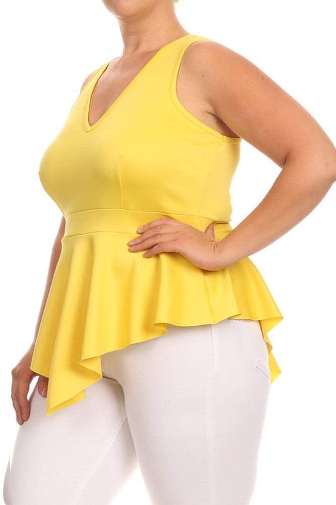 City Chic V Hem Plus Size Top