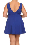 Plus Size Sweetheart Blue Skater Dress