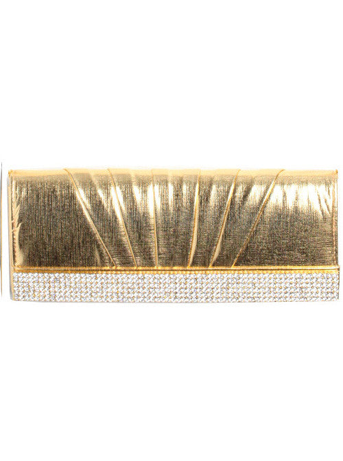 Sexy Diamond Cocktail Gold Clutch Bag