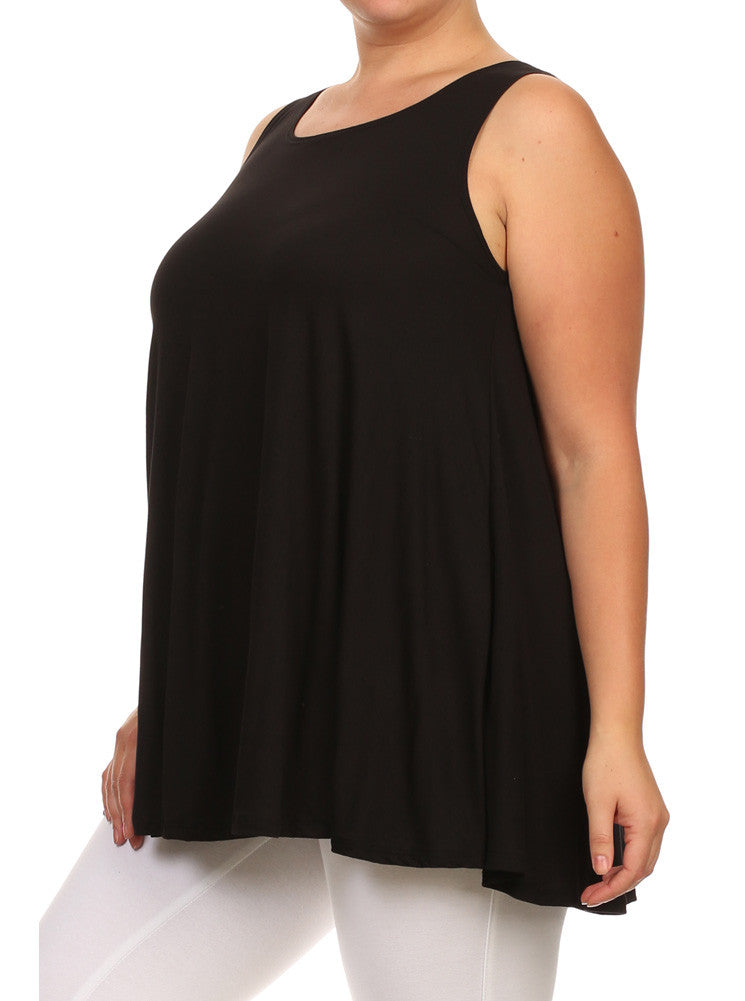 Plus Size Let's Go Out Black Top