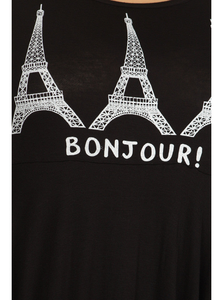 Plus Size Take Me To Paris Tunic