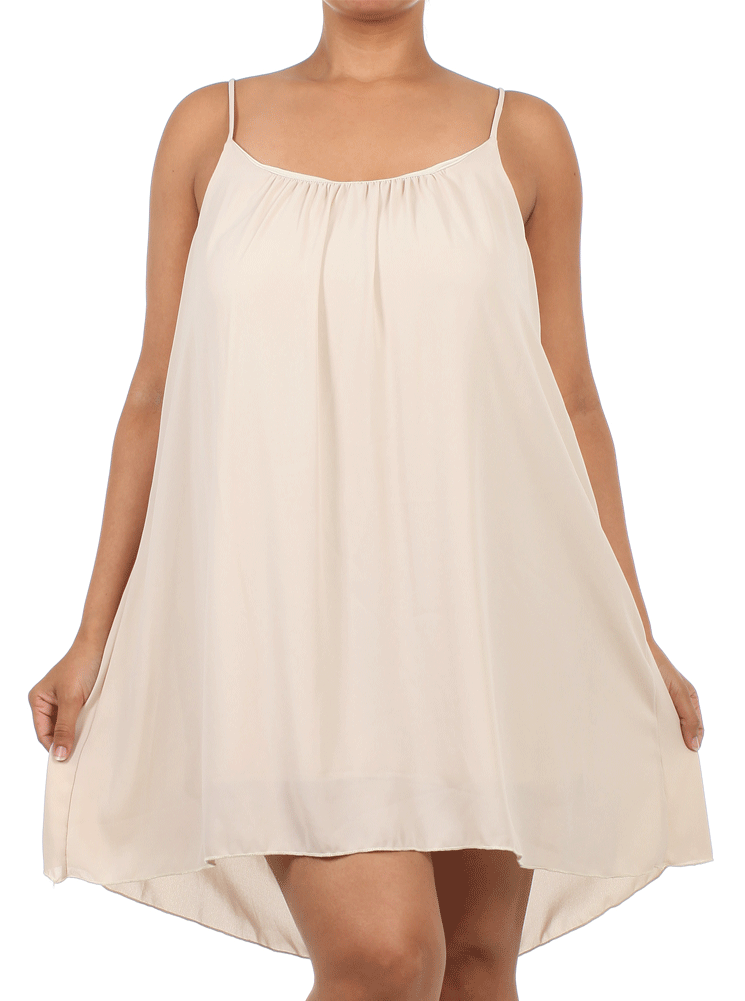 Plus Size Dashing Days Beige Frock Dress