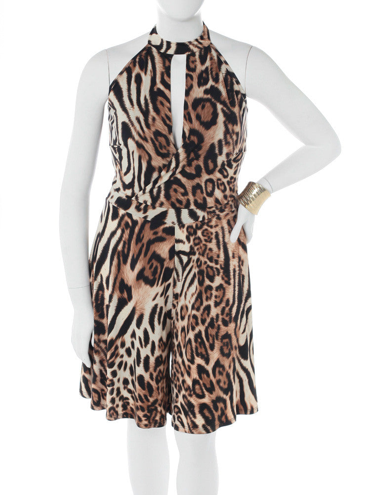 Plus Size Leopard Love Romper