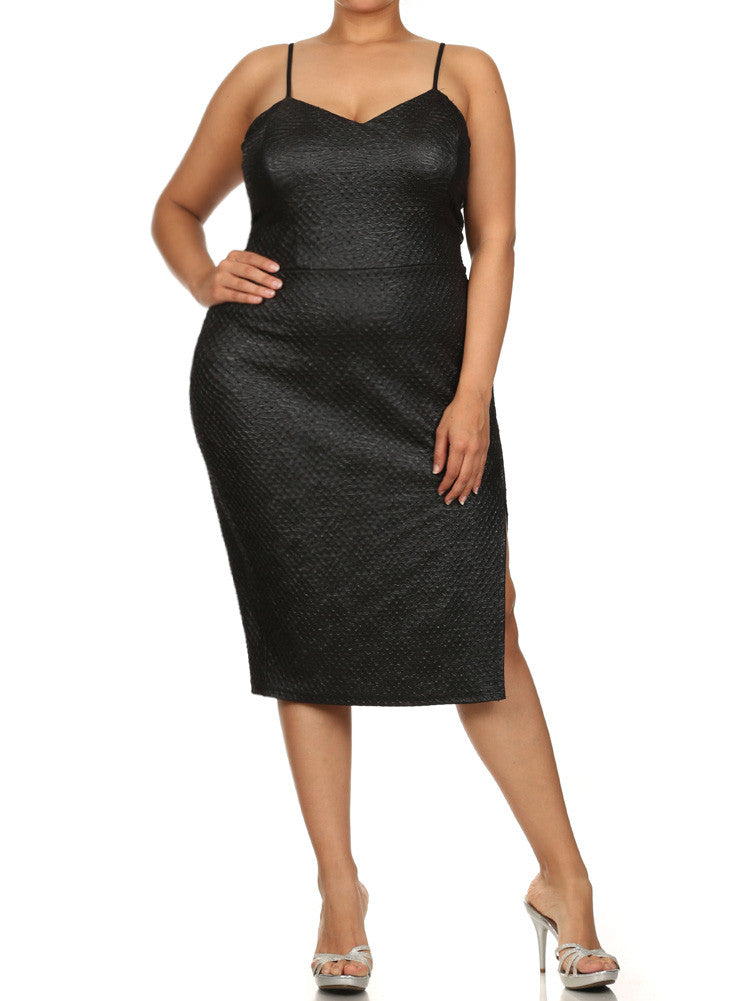 Plus Size Night Charmer Textured Dress
