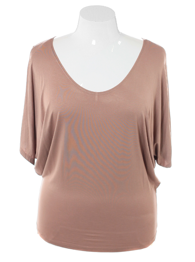 Plus Size Chic Essential Tan Top