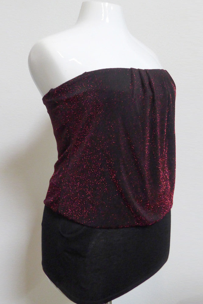 Plus Size Glamorous Sparkle Tube Top