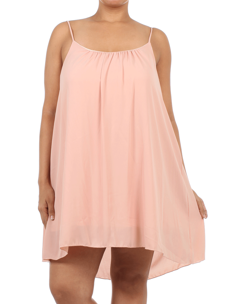 Plus Size Dashing Days Soft Pink Frock Dress