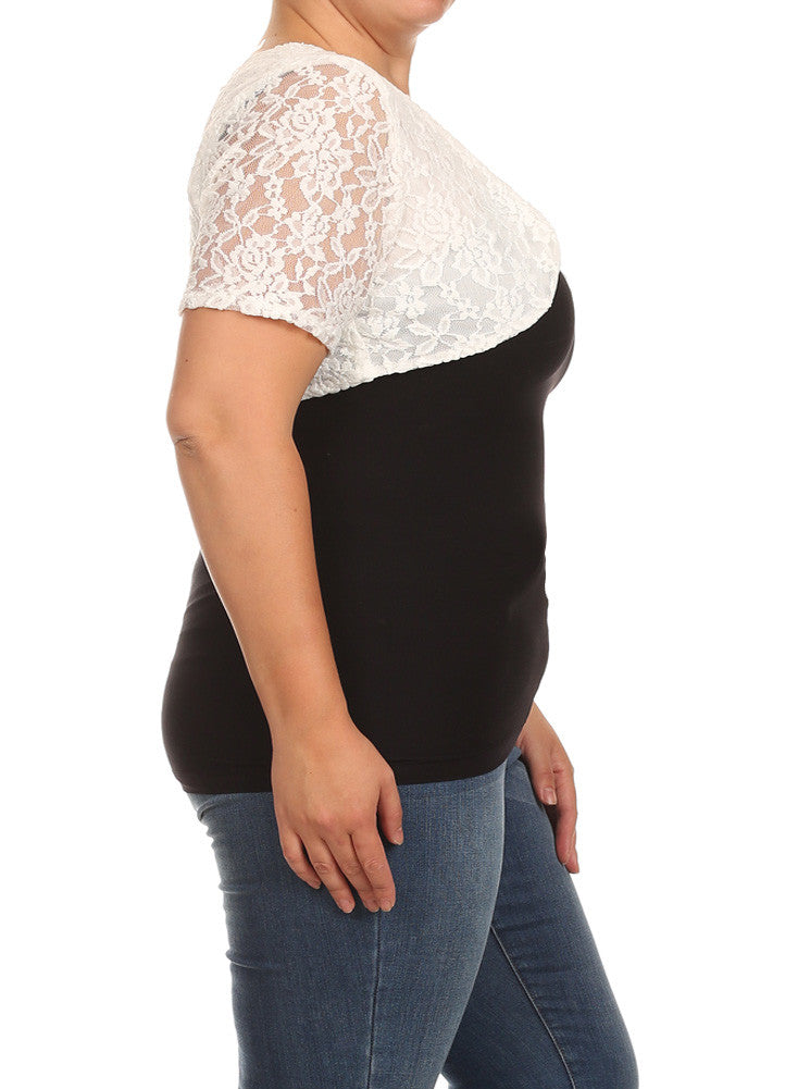 Plus Size Elegant See Through White Bolero
