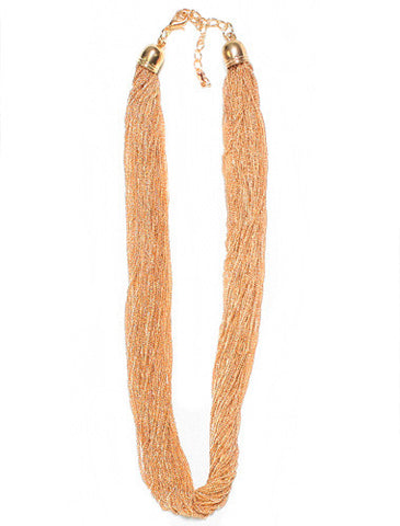 Beautiful Sexy Multi-Strand Gold Chain Necklace