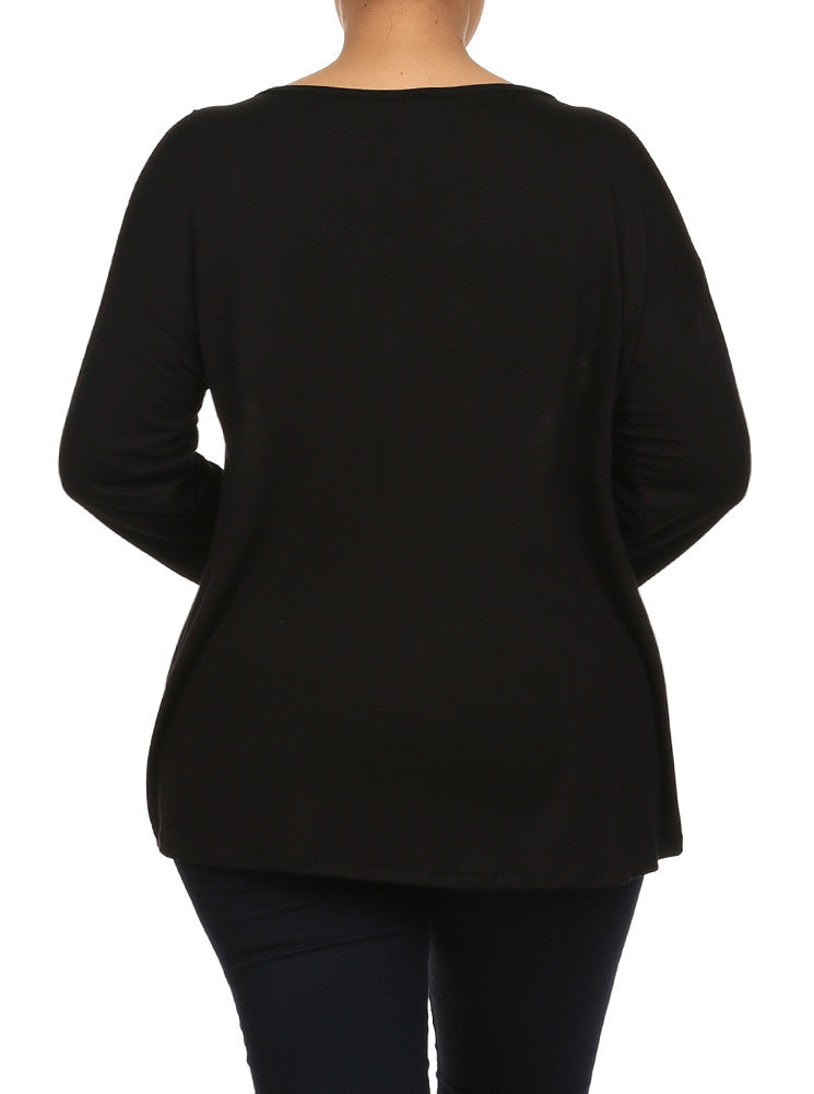 Plus Size Just Believe In Your Dream Black Raglan Top