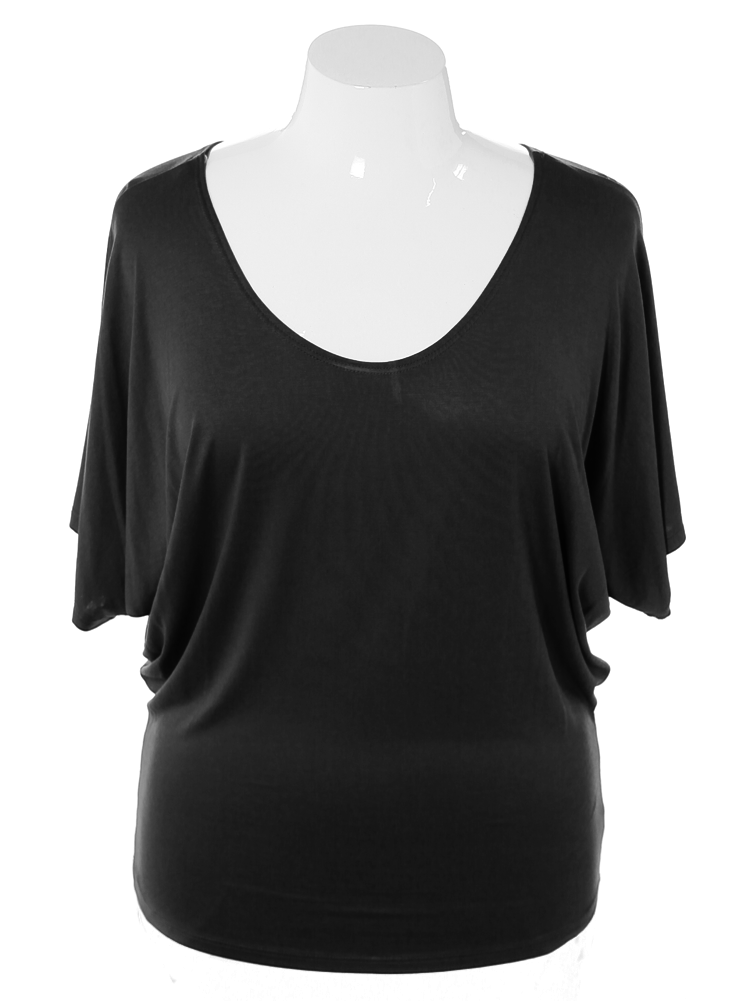 Plus Size Chic Essential Black Top