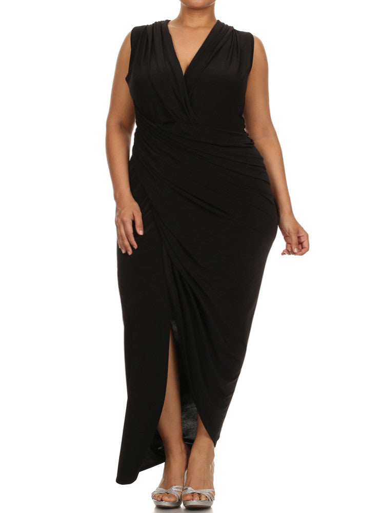 Plus Size Night To Remember Black Maxi Dress