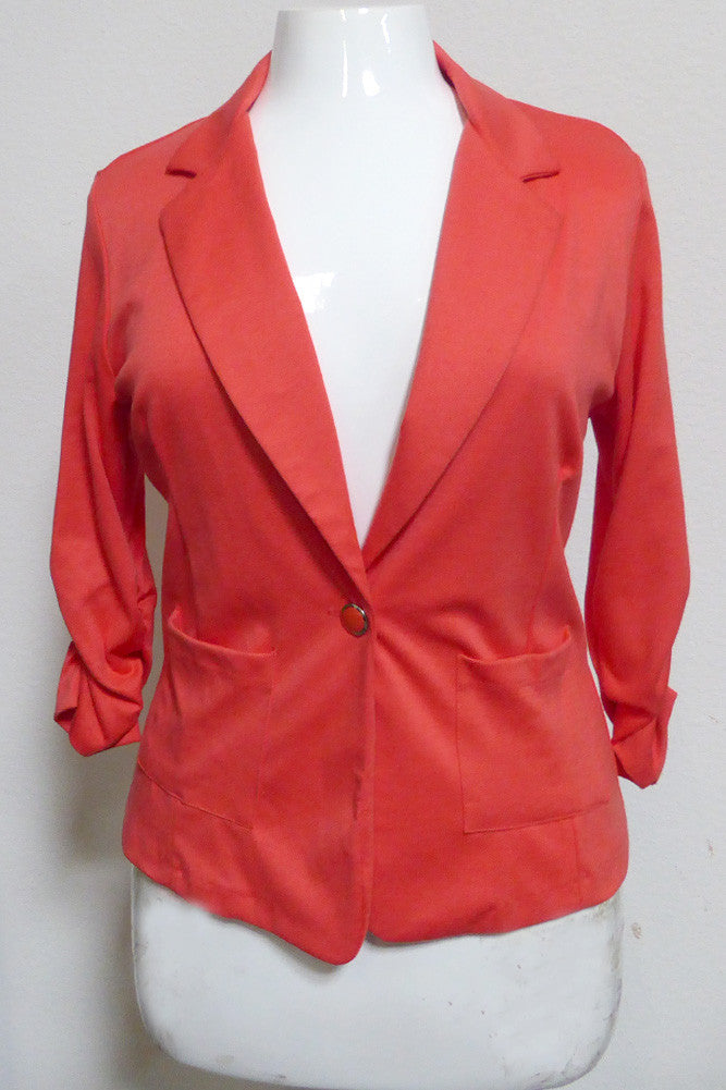 Plus Size Sleek Shiny Blazer