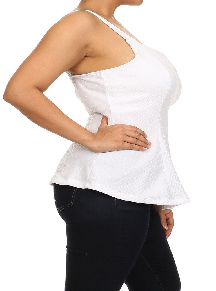 Plus Size Sexy Flare White Top